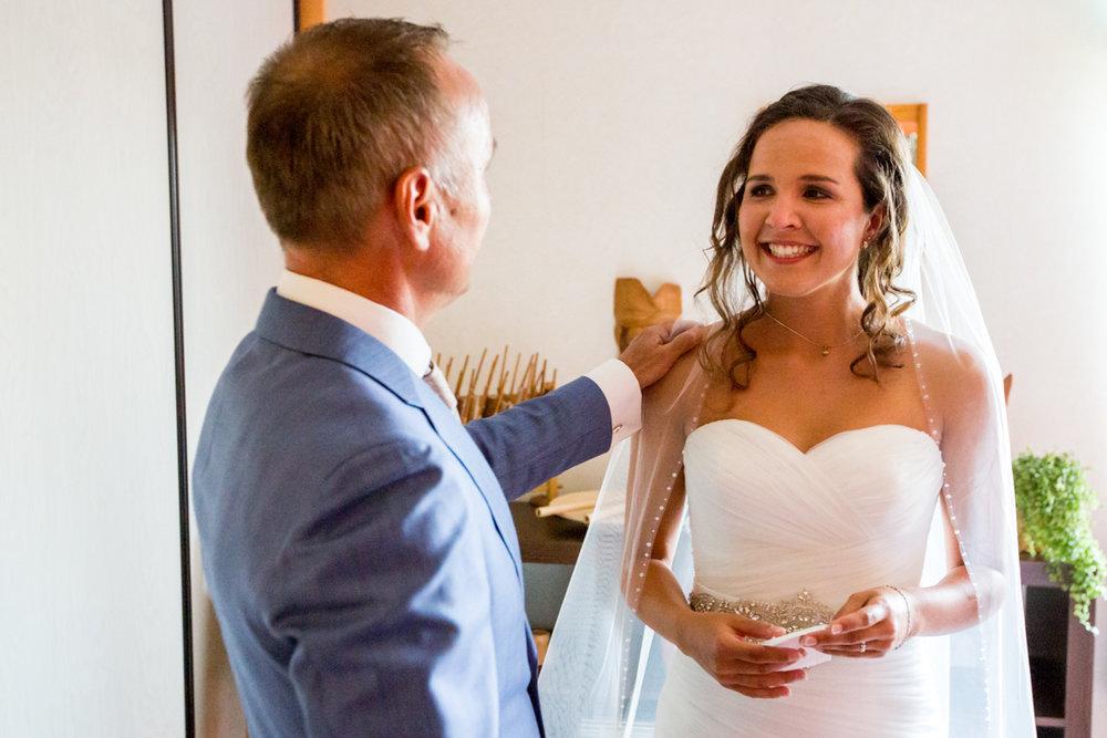 trotse vader van de bruid