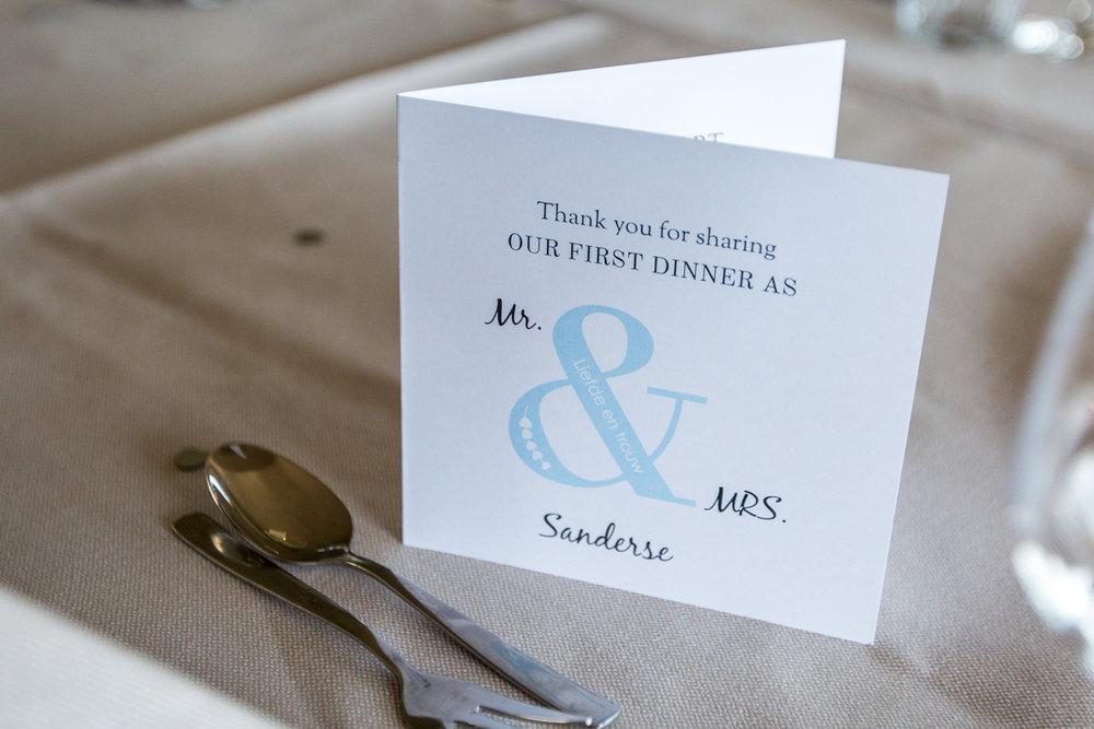 diner trouwen hotel ara