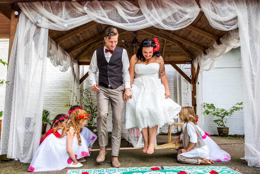 trouwceremonie handvasting