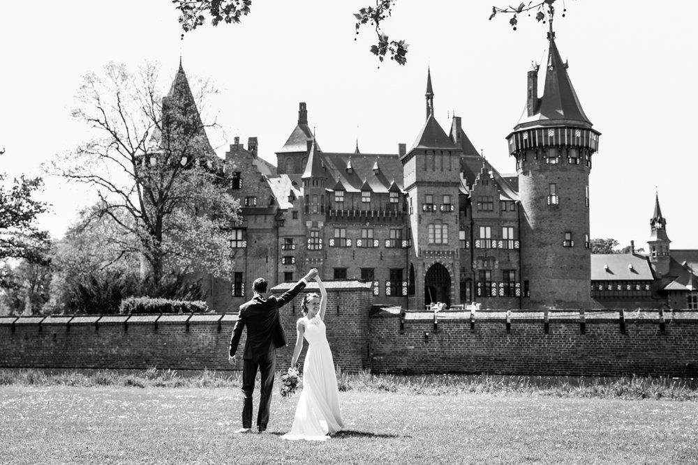 bruidsfotograaf kasteel haarzuilens