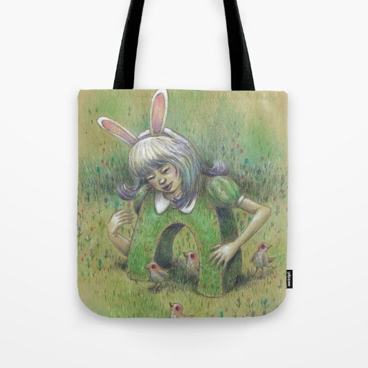 1) Magical Bunny Tote Bag (Gimme, gimme! Click on the image to get it.)