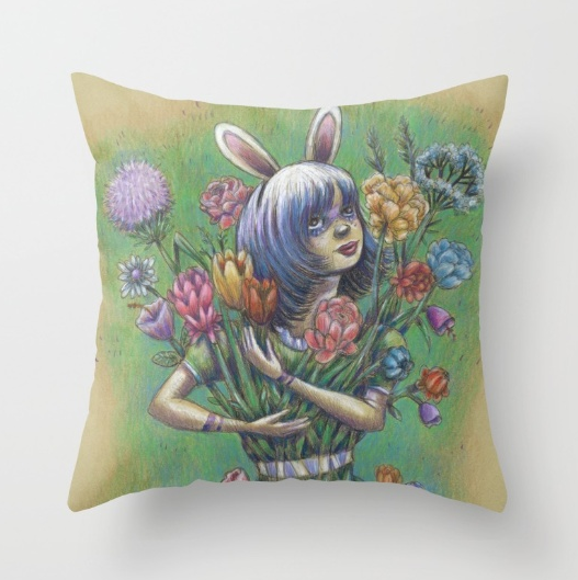 2) Magical Soft Bunny Girl Pillow  (Gimme, gimme! Click on the image to get it.)