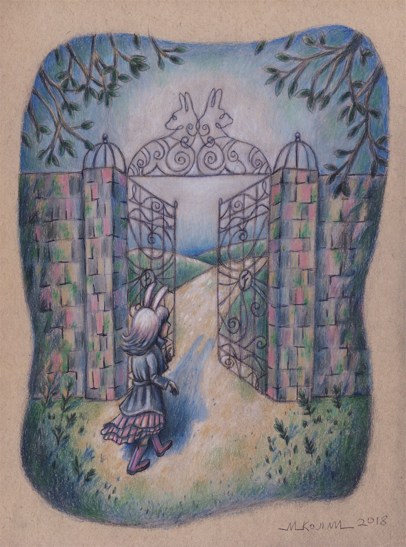 "Final drawing fo ""Bunny Trespassing"".."