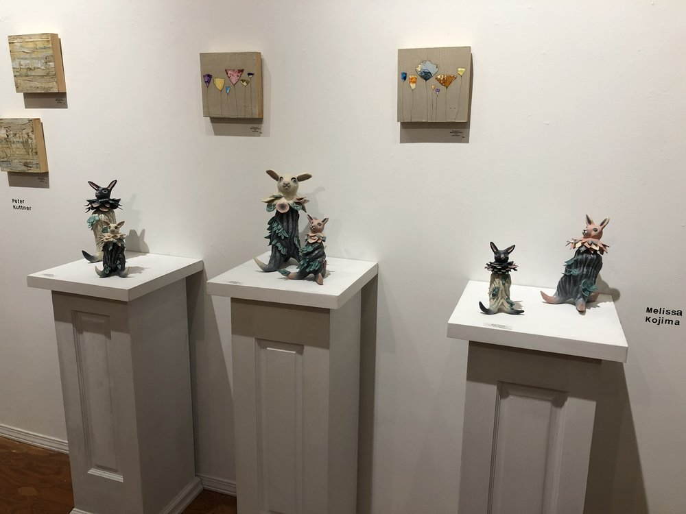 Whimsical Sculptures-Bunny Plantimals at McVarish Gallery.JPG
