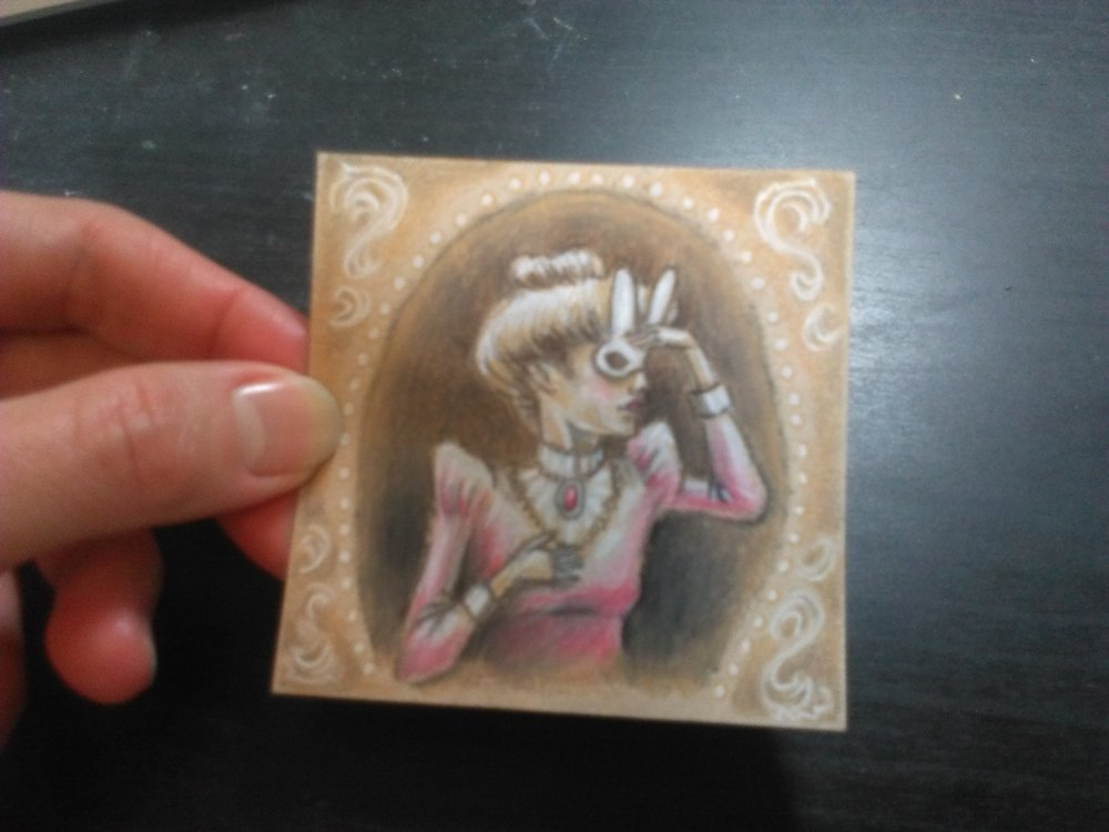 One little post-it Bunny Girl Drawing done. 8 more to go.