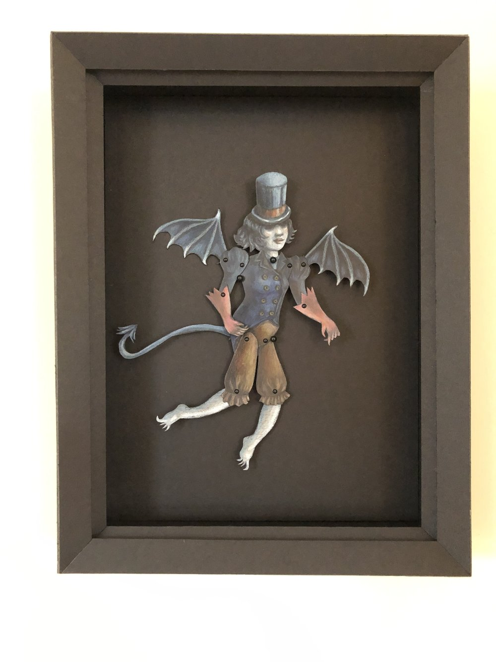 Lady Bat Freak Show Paper Puppet.
