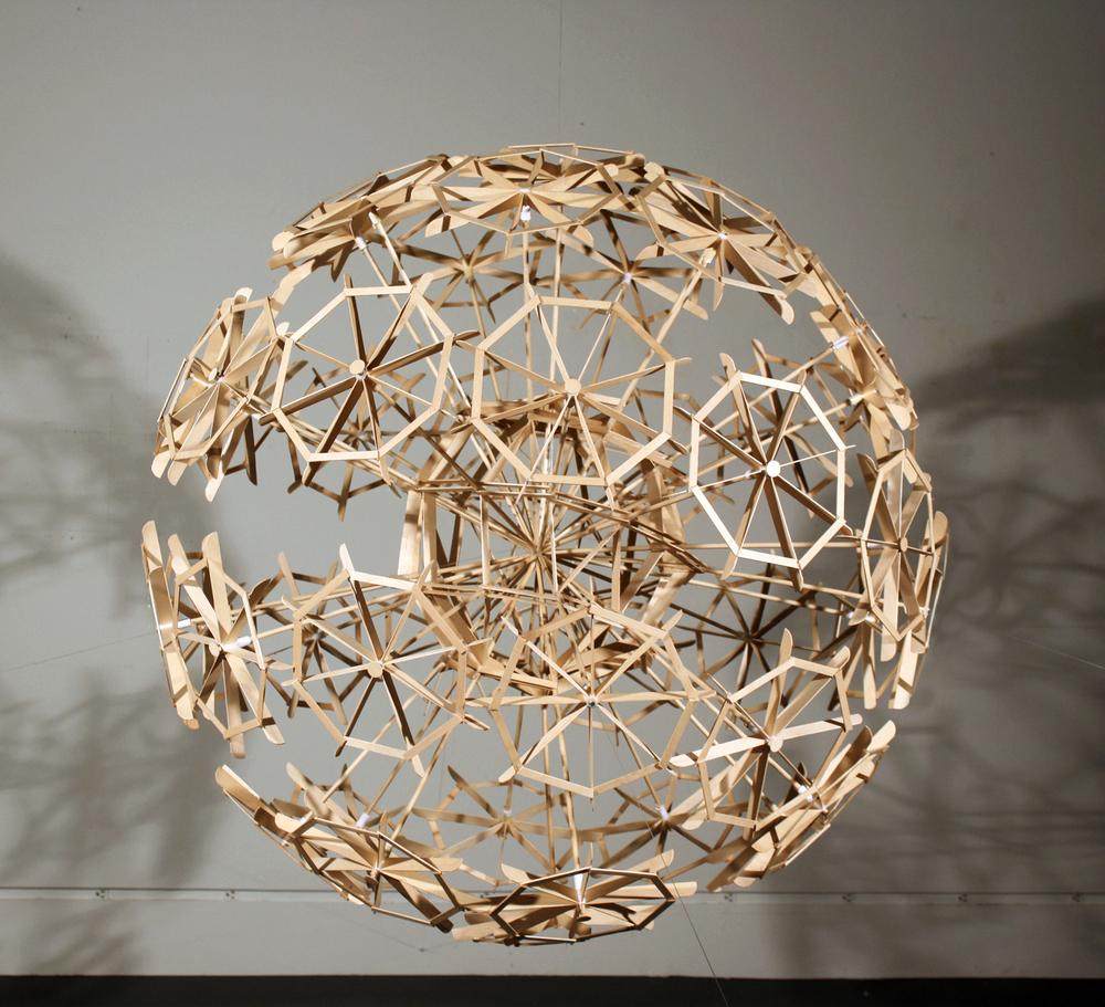 """Spiral Sphere  45""""x 45""""x 45"""" 2011"""