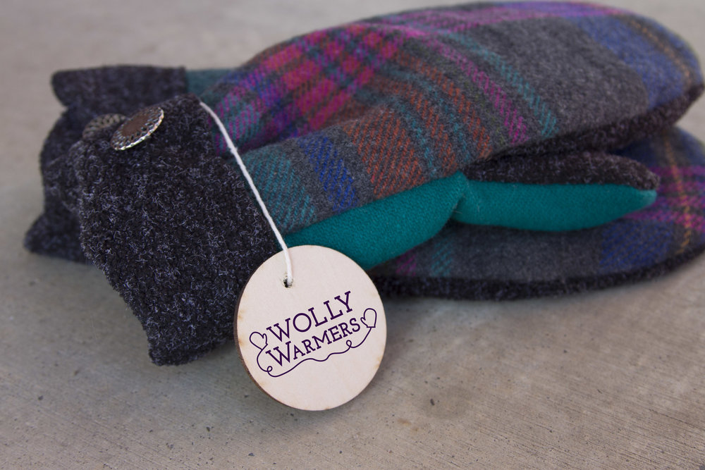 Wolly logo on mittens