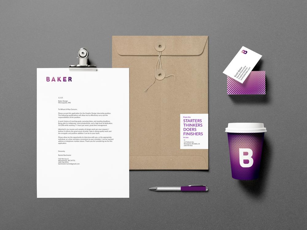Baker branding stationary mockup