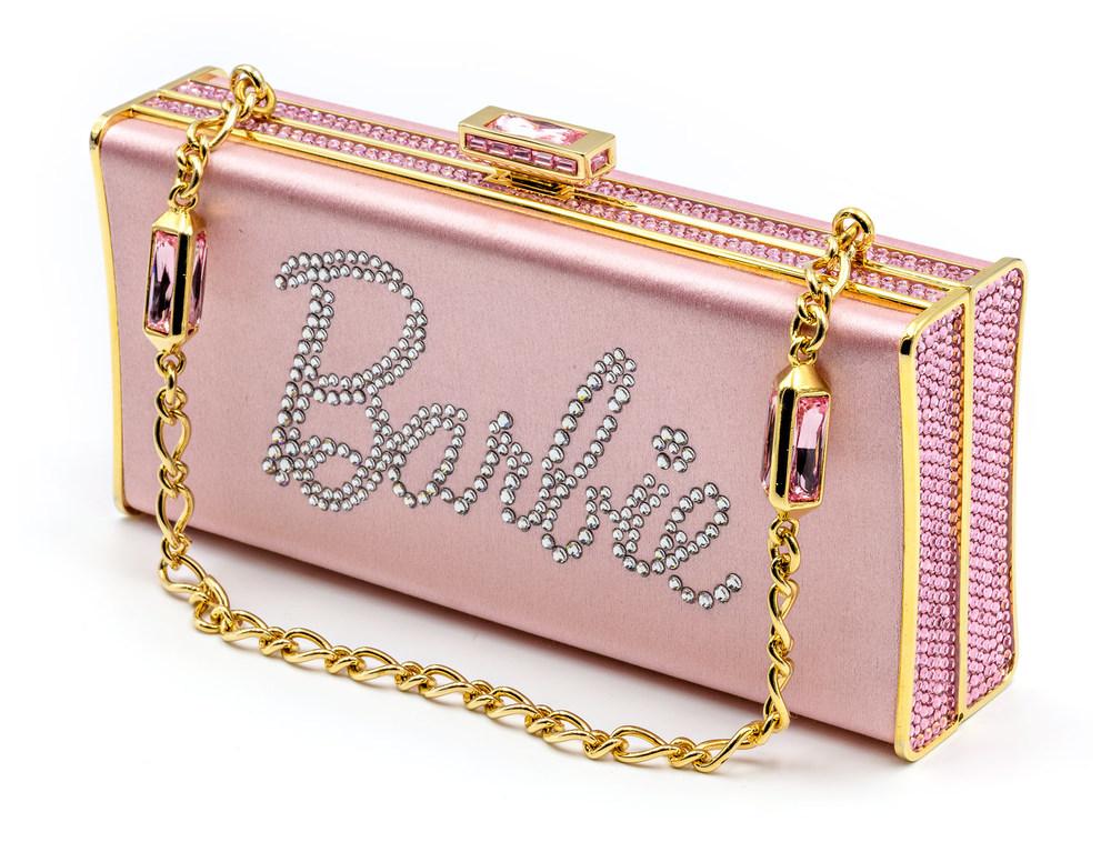 Pink Satin Barbie Clutch