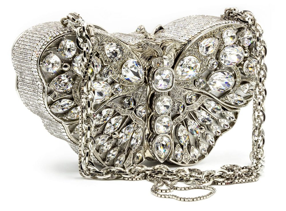 Silver and Crystal Butterfly