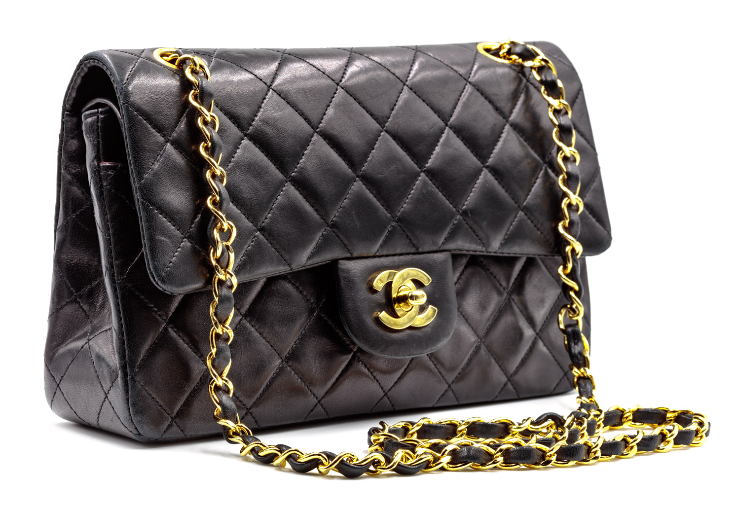 6728a09fabcc Chanel 2.55 Classic Black Quilted Lambskin. chanel-black-2.55-front.jpg
