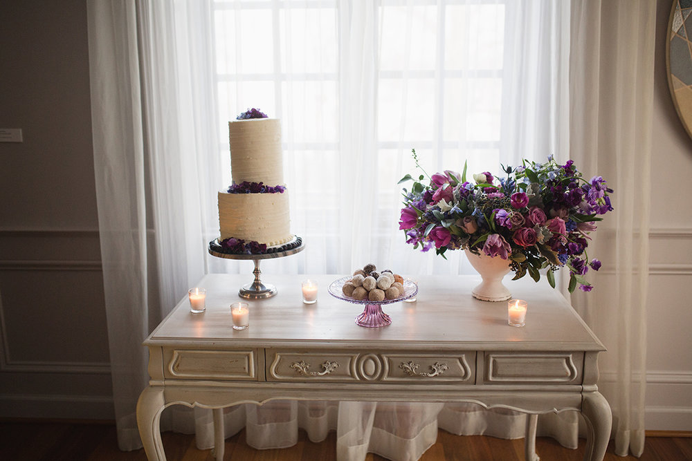 Ultraviolet Wedding Dessert Display Inspiration A Griffin Events DC Wedding Planner