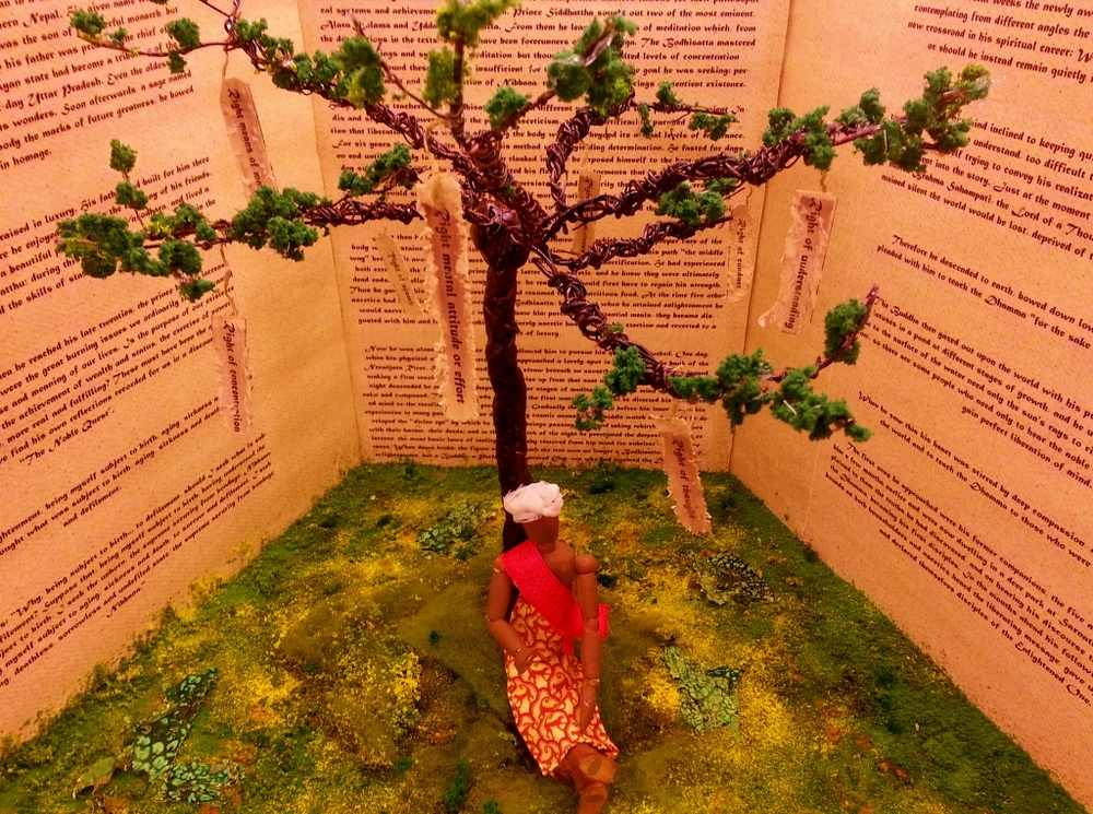 "SIDARTHA & THE BODHI TREE Designed & Built by: Jamie DeHay Scale: 1"" = 1'0"""