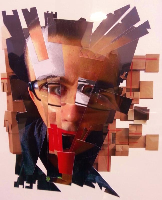 Photo collage self-portrait.