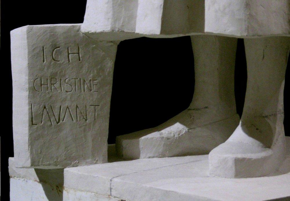 HORTENSIA - Denkmal Christine Lavant, Detail