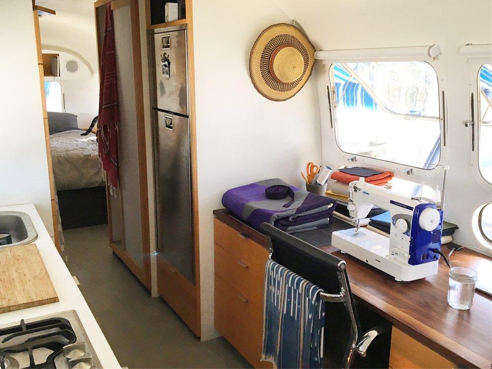 Airstream studio/Vacilando HQ