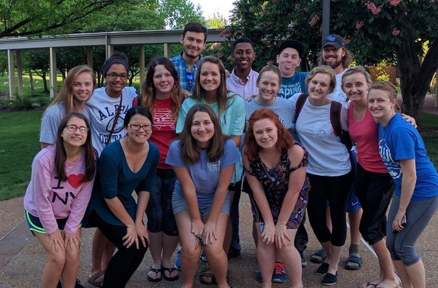 This was our freshman year Chi Alpha posse! We got dinner together every Sunday night, and it was very special and cool to see this group of people take the initiative to do a little something extra outside of the large XA group to get to know each other better and hang out :D