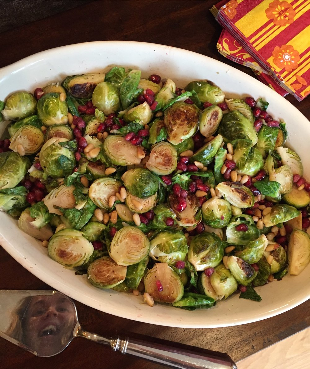 Peep my face creepin'. Brussels sprouts just get me all giddy inside.