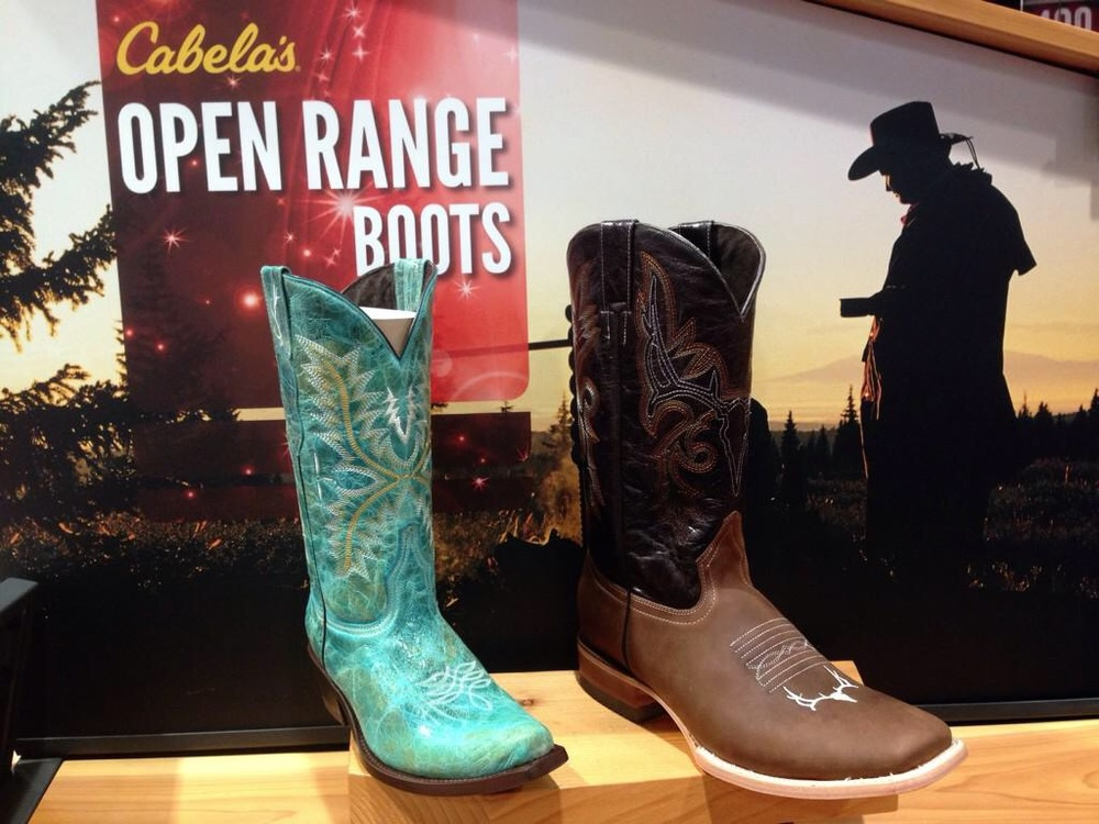 c3a6fb37 Add a touch of the Wild West to the wardrobe of all outdoor enthusiasts,  from kids and women to men with the NEW Cabela's Open Range Cowboy boot  collection ...