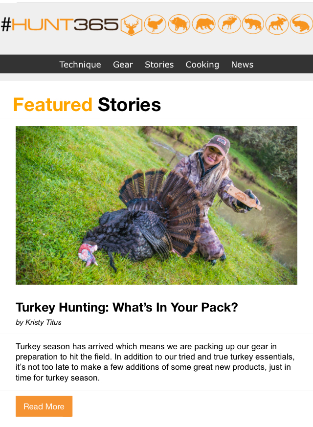 07e42939ecf37 Turkey Hunting: What's In Your Pack? — Kristy Titus
