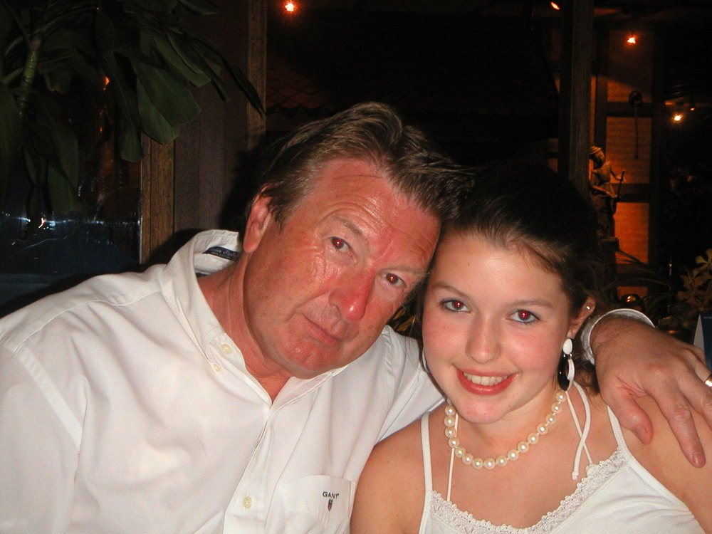 Sarah with her father, Vic