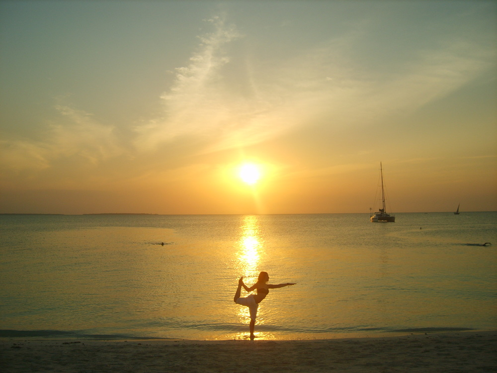 Sarah practising body balance