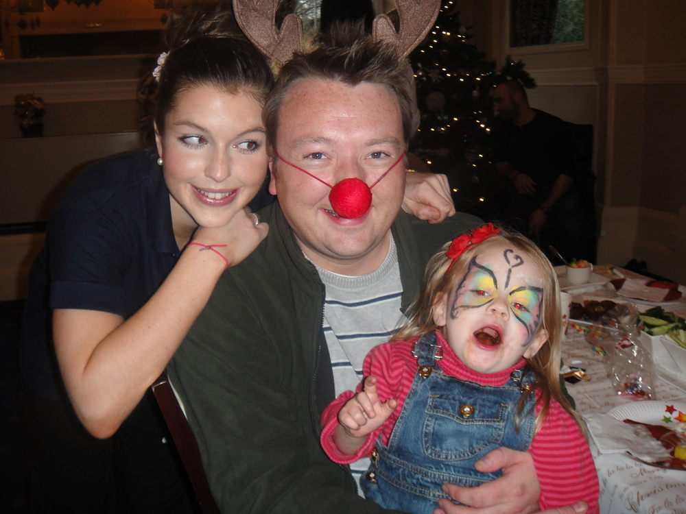 Sarah with her brother, Tom, and her younger niece, Lucy