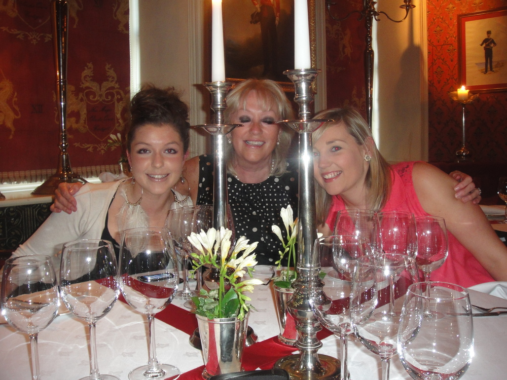 Sarah with her mother, Kate, and close friend, Sarah Martin