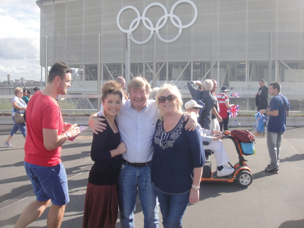 Sarah's brother Ben took a photo of Sarah with her mother, Kate, and her father, Vic, at the 2012 London Olympics