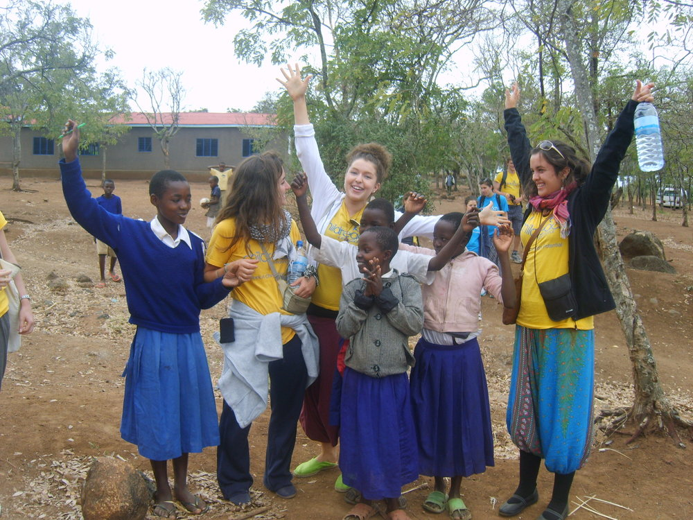 Sarah and Fabiana (middle left), visited   Mgungani School, Tanzania  , in 2012 before climbing Mt Kilimanjaro.