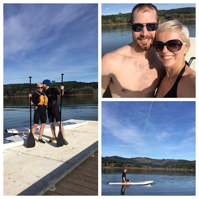 Paddle boarding in February for Ben's birthday...such an amazing day!