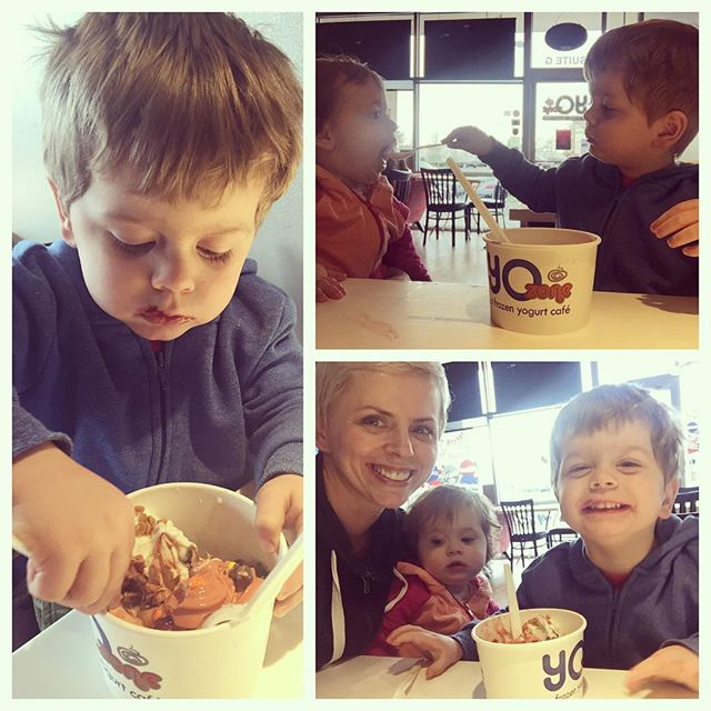 We had a few super warm days...that called for FroYo and loads of outside play time.