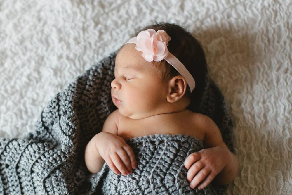 Tiny baby girl
