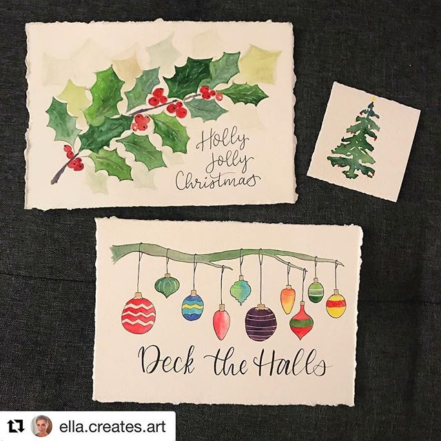 #Repost @ella.creates.art ・・・ Little giveaway time. Know anyone that could use a little holiday cheer? I painted these 3 little beauties and would love to pass them along to someone who is in need of love. No crazy rules, just leave me a name or initial of someone who comes to mind & why they could use some cheer  and I'll pick 3 names by Sunday the 19th. ❤️🎄