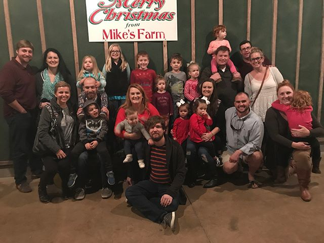 2nd year we've gone to Mike's Farm, with our small group, for the giant family style dinner and hay ride through Christmas lights. Such a perfect night for this and the kids loved it all!!