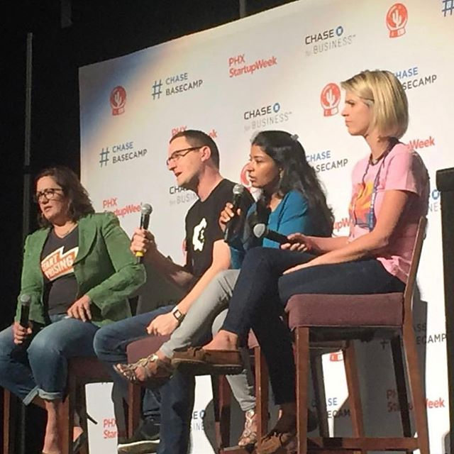 Thanks for this photo at @clearvoicecontent ! Product panel today at #phxstartupweek #yesphx