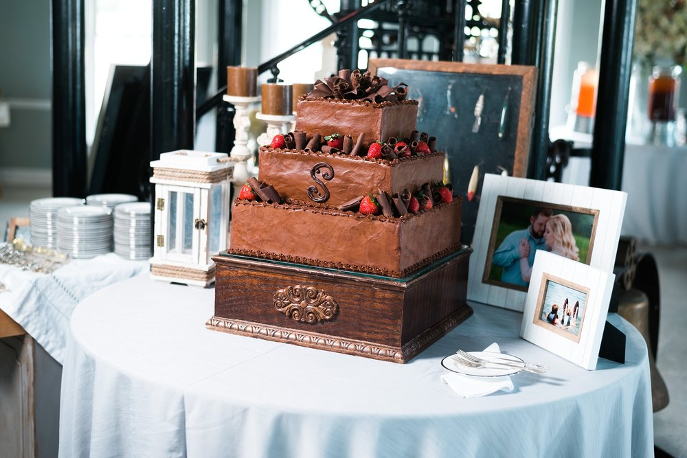 Traditional Groom's Cake  | Kyle & Erin | Scarbrough Wedding | Children's Harbor | Laura Wilkerson Photography