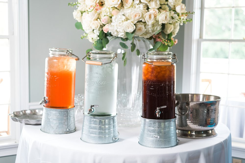 Drink Station | Kyle & Erin | Scarbrough Wedding | Children's Harbor | Laura Wilkerson Photography