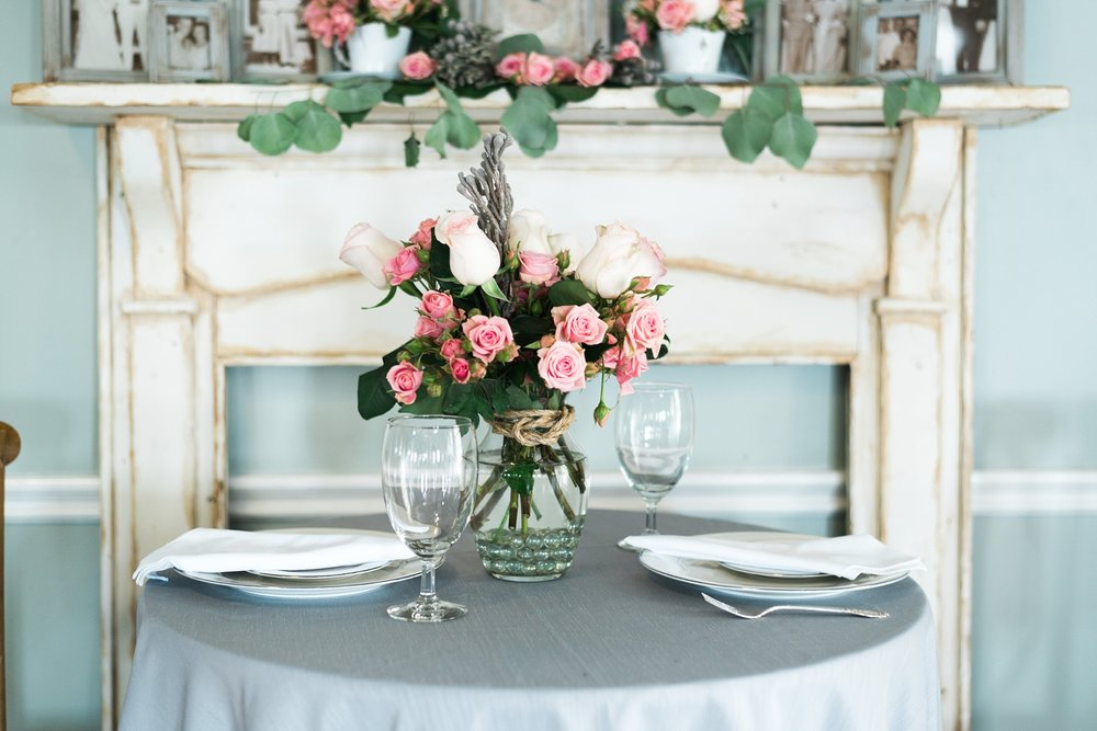 Sweetheart Table | Antique Decorations | Kyle & Erin | Scarbrough Wedding | Children's Harbor | Laura Wilkerson Photography
