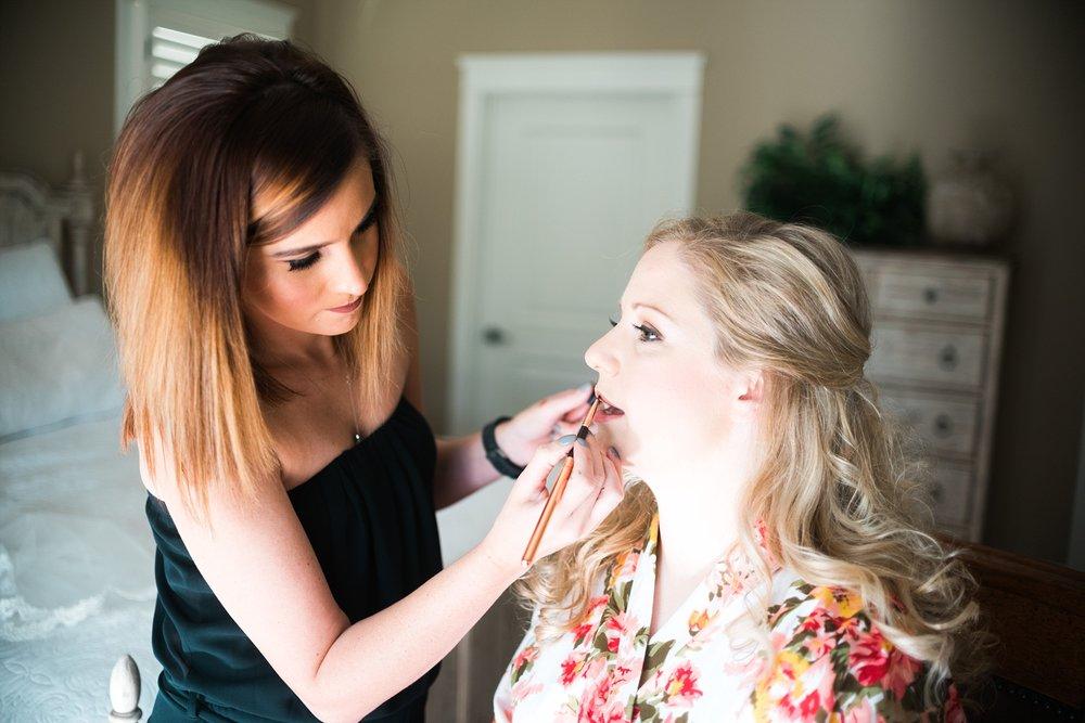 Makeup by Rachel Griffin | Kyle & Erin | Scarbrough Wedding | Children's Harbor | Laura Wilkerson Photography