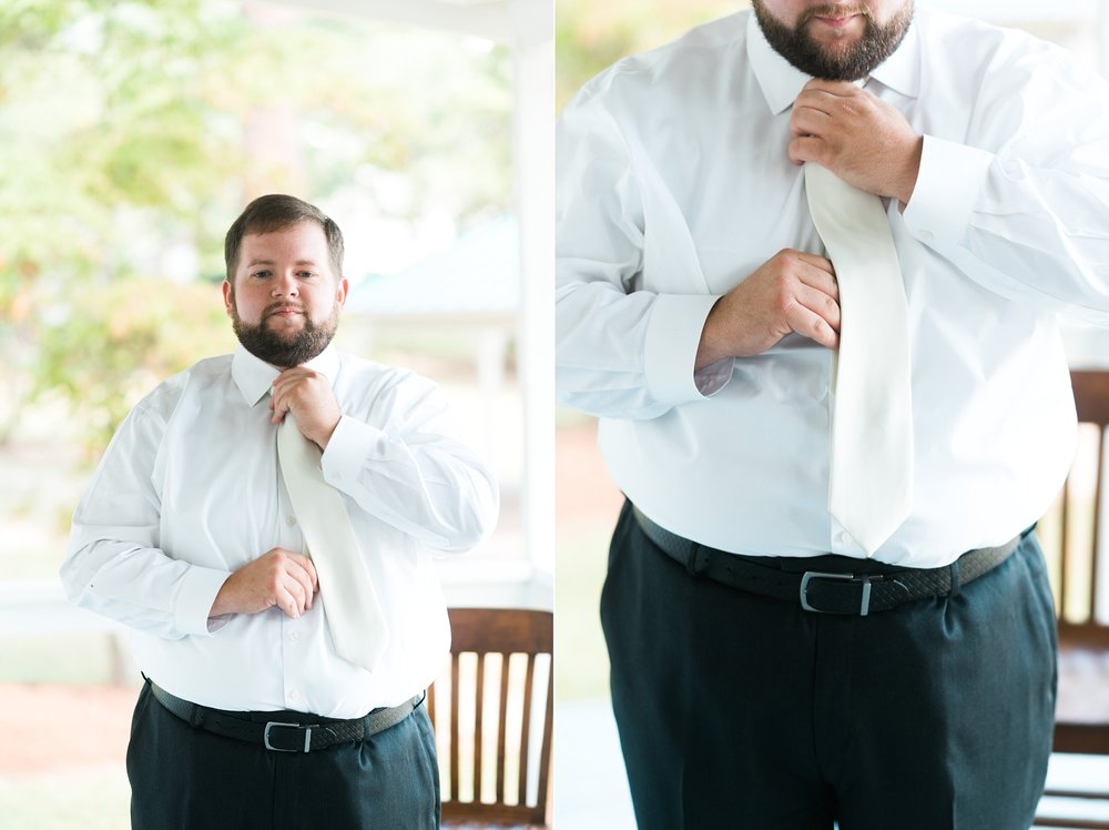 Groom getting ready | Kyle & Erin | Scarbrough Wedding | Children's Harbor | Laura Wilkerson Photography