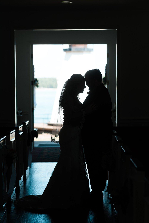 Bride & Groom | Kyle & Erin | Scarbrough Wedding | Children's Harbor | Laura Wilkerson Photography