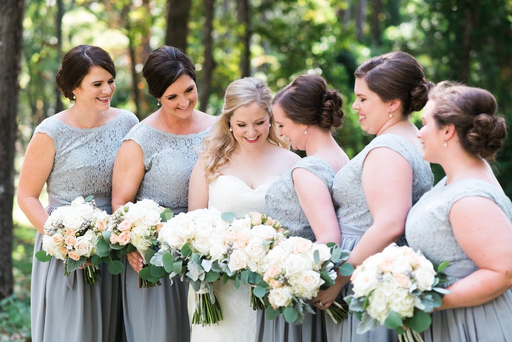 Bridesmaids with Bride | Kyle & Erin | Scarbrough Wedding | Children's Harbor | Laura Wilkerson Photography