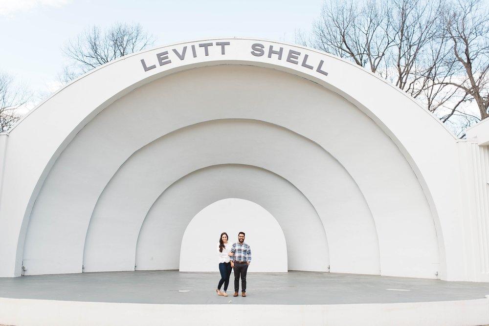 Levitt Shell | Downtown Memphis Engagement | Taylor & Alli