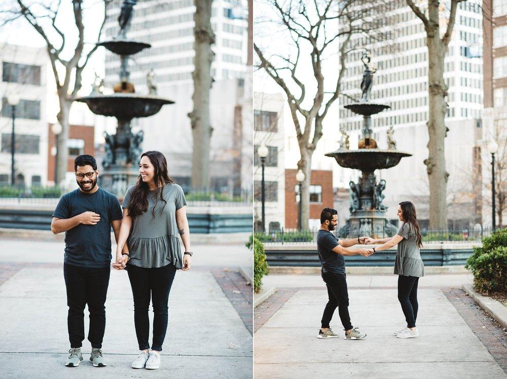Court Square | Downtown Memphis Engagement | Taylor & Alli