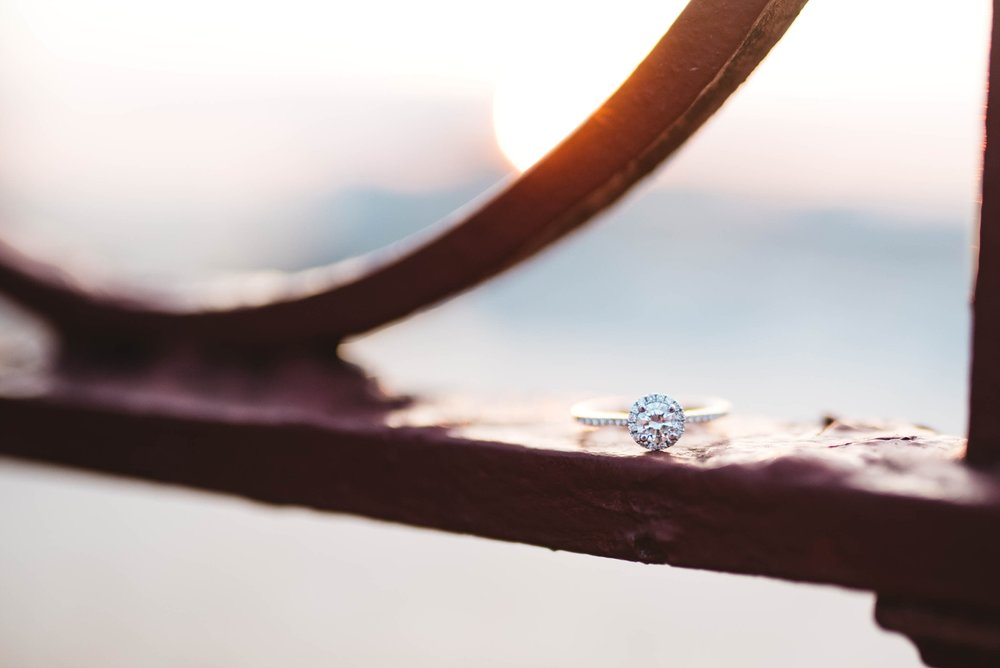 Ring Shot | Peabody | Downtown Memphis Engagement | Taylor & Alli