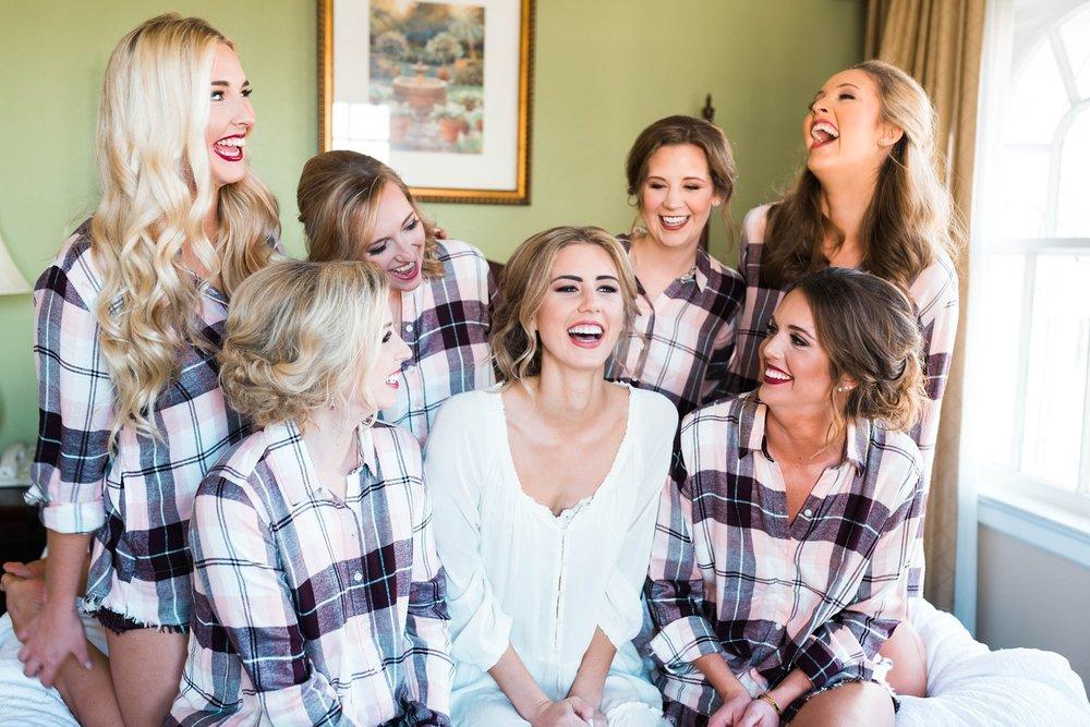 BRIDE WITH BRIDESMAIDS | MATT & MEGAN | CAREY WEDDING | B&A WAREHOUSE | ST. FRANCIS XAVIER