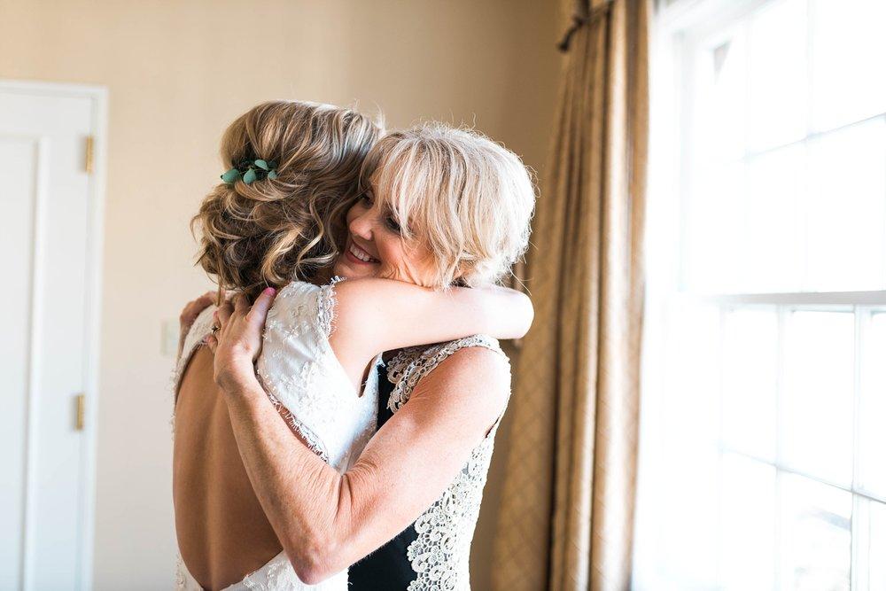 BRIDE WITH MOTHER | MATT & MEGAN | CAREY WEDDING | B&A WAREHOUSE | ST. FRANCIS XAVIER