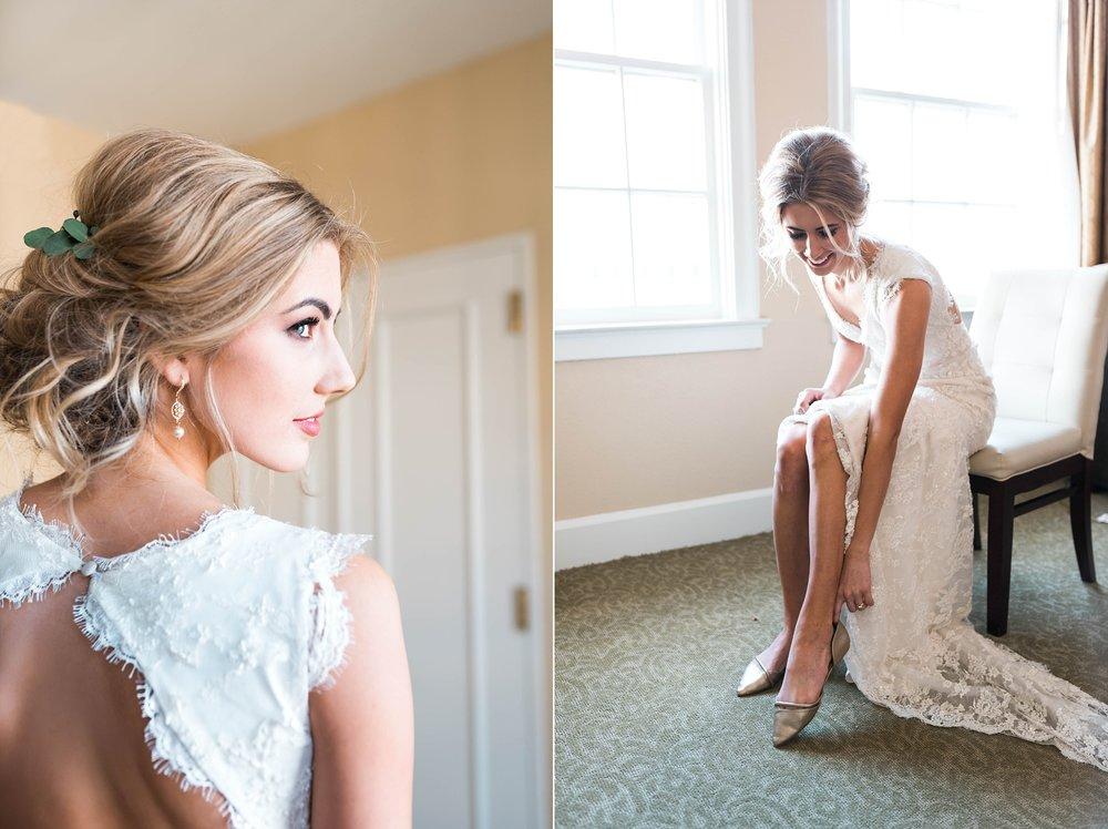 BRIDE GETTING READY | MATT & MEGAN | CAREY WEDDING | B&A WAREHOUSE | ST. FRANCIS XAVIER